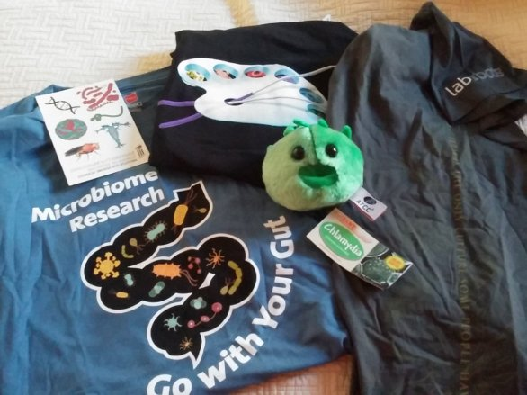 Vendor swag! And not even all of it...