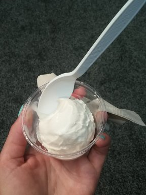 Ice cream made using liquid nitrogen from the Witches of Boston.