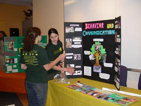Here I am as an undergraduate presenting on wolf behavior and how it isn't so different from human behavior.