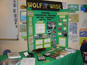 We presented information to the public on wolves and their reintroduction.