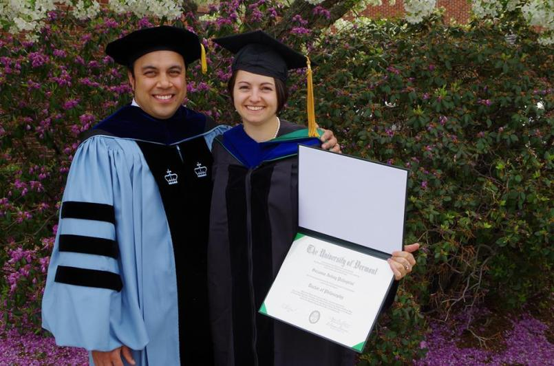 My committee chair, Dr. Neil Sarker, who hooded me at graduation.