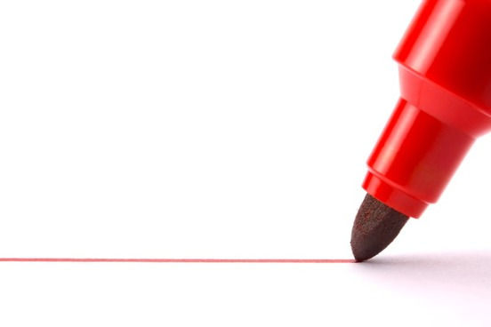 Red pen.