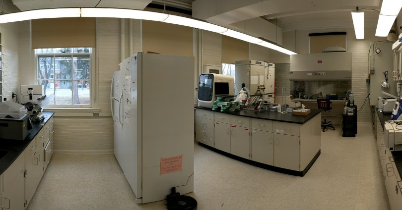 An image of a microbiology and genetics laboratory.